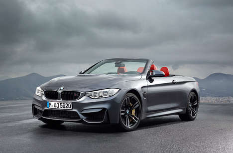 Intricately Designed Convertible Cars - The 2015 BMW M4 Convertible Blends Power and Style