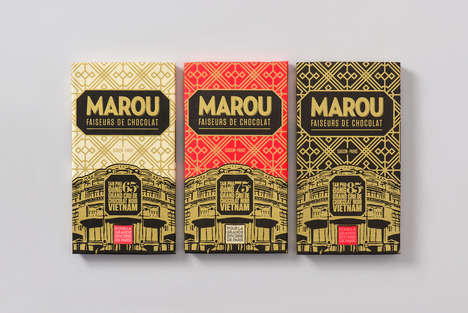 Parisian Architecture-Inspired Packaging - This Chocolate Packaging Design is Elegant and Stunning