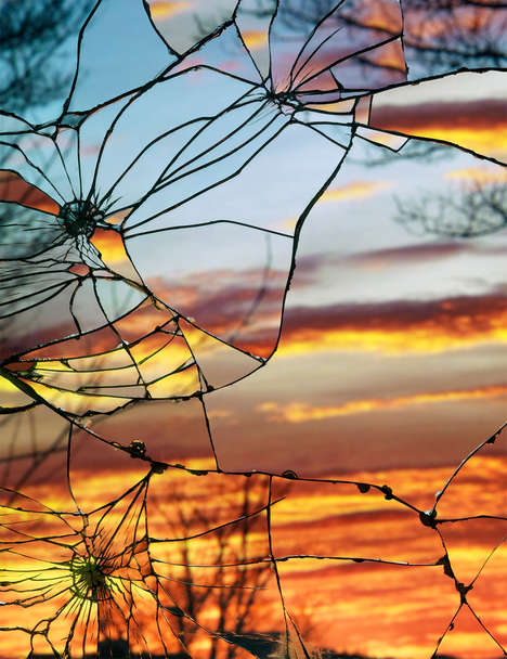 Surreal Sunset Glass Photography - This Shattered Mirrors Photography Series is Mesmerizing