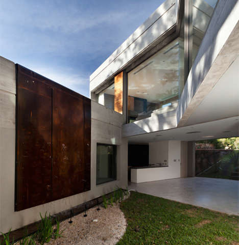 Blocked Concrete Abodes - Casa Acassuso by Andres Remy Arquitectos is Industrial-Chic