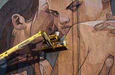 Devious Industrial Street Art - ARYZ Creates a Piece Called 'Overprotection' in Austria