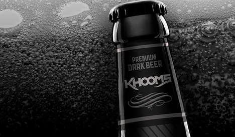 Darkly Branded Beer - Khooms is a New Kind of Premium Beer Packaged by Israel Viveros