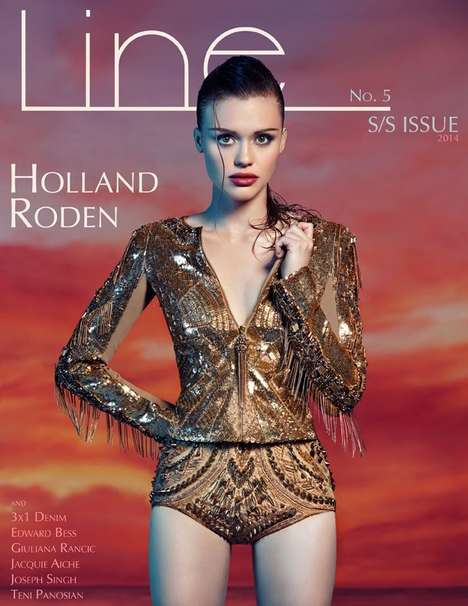 Wet-Haired Gloaming Editorials - The Line Magazine SS14 Cover Shoot Stars Actress Holland Roden