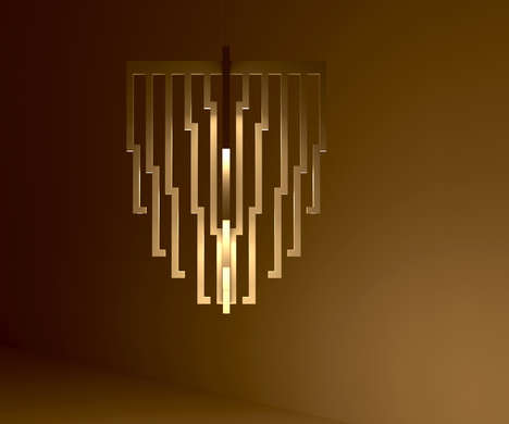Organ Pipe Pendant Lights - This Ceiling Light Looks like a Series of Organ Pipes