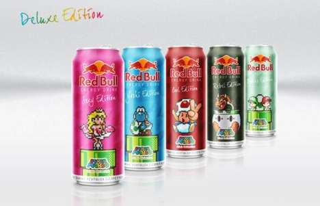 Video Game Energy Drinks - Jhonatan Ayala Conceptually Designed Super Mario-Themed Red Bulls