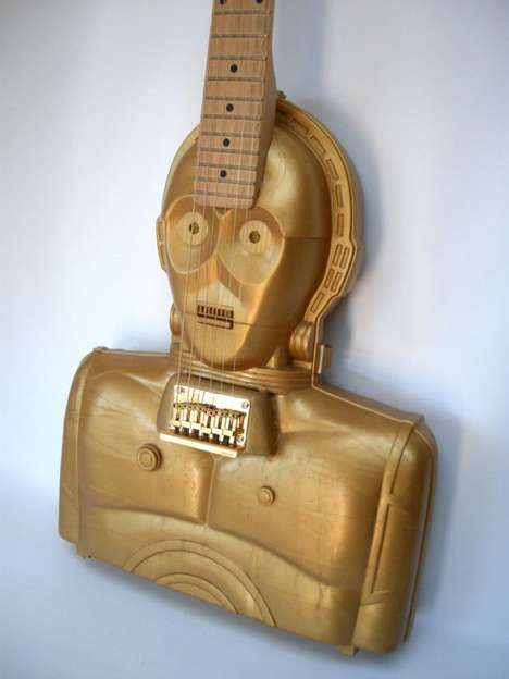 Star Wars-Inspired Instruments - The C3PO Electric Guitar by Marc Potter Meshes Sci-Fi and Music