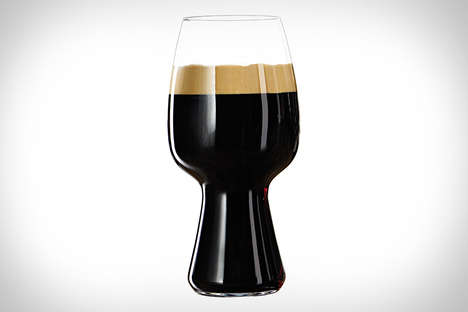 Tulip-Shaped Beer Glasses - The Spiegelau Stout Glass is Optimal for Stout Alcoholic Beverages