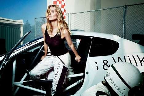Versatile Luxury Car Ads - The Maserati 2014 Campaign Stars Top Model Heidi Klum