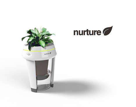Symbiotic Plant Watering Ecosystems - The Nurture System Waters Plants Based on Energy Consumption