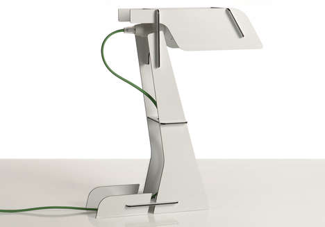Snap-Together Desk Lighting - The Zeta Aluminium Lamp by ZPSTUDIO is a Flat Pack DIY Fixture
