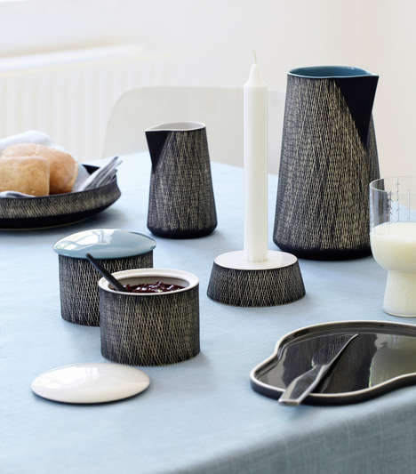 Crisscross Ceramic Canisters - Rikki Tikki Covers All the Bases with its Retro Tableware Designs