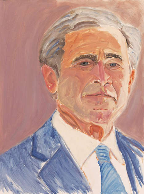 President-Created Portraits - These George W. Bush Paintings Portray World Leaders