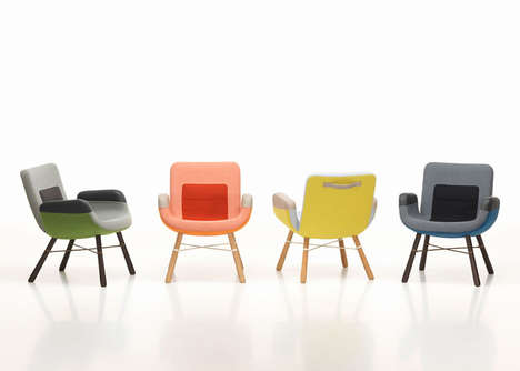 Chromatic Leather Seating - These Colorful Chairs by Hella Jongerius are Comfy and Modern