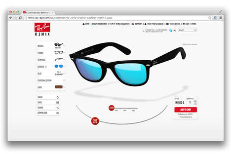 Customizable Hipster Eyewear - The Ray Ban Remix Lets Shoppers Customize Their Glasses