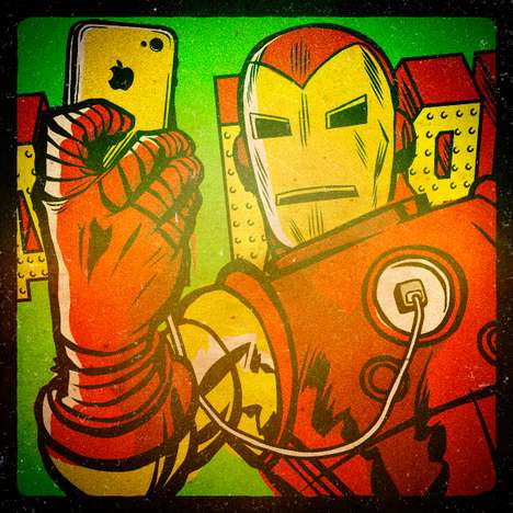 Superhero Selfie Illustrations - Butcher Billy