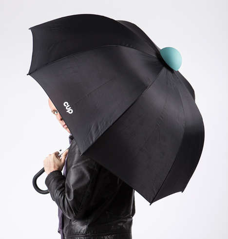 Drip-Preventing Parasols - The Cup Umbrella by Alessandro Busana Reduces Water Stains