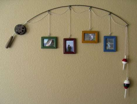 Clever Fishing Rod Decor - Fishing Pole Picture Frame by Suzann Sanders is Made for Enthusiasts