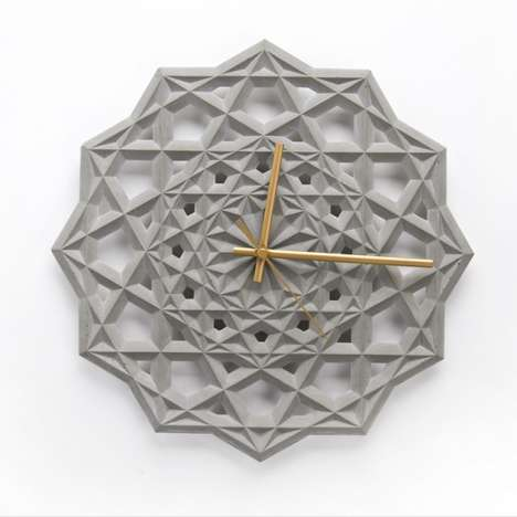 Intricate Concrete Chronographs - The Prime Clock by CitieSocial is a Gorgeous Geometric Creation