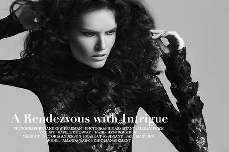 Sensually Mysterious Photoshoots - A Rendezvous with Intrigue by Andrew Fearman Stars Amanda Ware