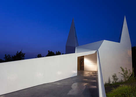 Angular Superhero Churches - This Roadside Church Channels a Batman-Inspired Design