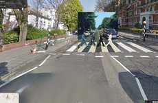 Superimposed Album Covers - Classic Music Gets a Google Street View Album Cover Makeover