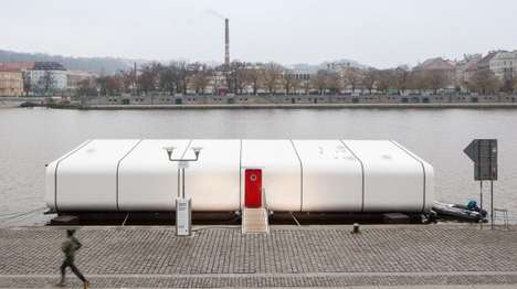 Floating Off-Grid Homes - Port X is a Modular Home That Can Be Installed on Water or Land
