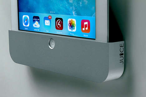 Minimalist Tablet Wall Docks - The Juice On-Wall Dock Safely and Stylishly Holds Your iPad