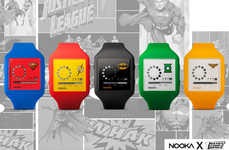 Minimalist Superhero Timepieces - Nooka Teamed-Up with DC Comics for this Line of Superhero Watches