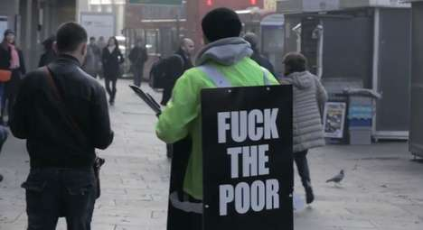 Profane Poverty Awareness Ads - This Ad for the Pilion Trust Urges People to Donate to Charity