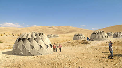 Lantern-Like Folding Refuges - Weaving a Home Proposes an Efficient Shelter for Displaced Families