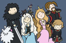 Suggestive Fantasy Illustrations - This Game of Thrones Adventure Time Art is Very Witty