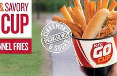 Cinnamon-Infused Fast Food - KFC is Testing a New 'Go Cup' Out that Includes Funnel Cake Fries