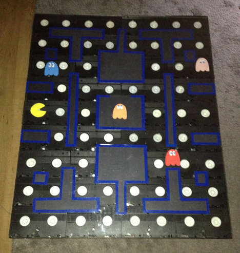 Multimedia Gamer Coffee Tables - This Pac-Man Coffee Table Uses Old Vhs Tapes to Form Its Base