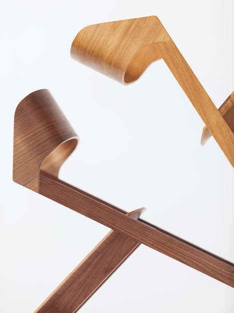 Hipster Sculptured Wooden Furniture - This New Collection of Wood Chairs and Stools is Minimalist