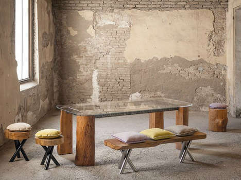 Tree Trunk Furniture - The Mountain Collection by Alexander and Matteo Bagnai is Sleekly Rustic