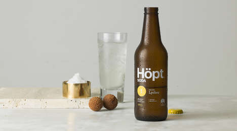 Crisp Clean Summery Beverages - The Höpt Soda Drink Range is Delicious and a Healthy Alternative