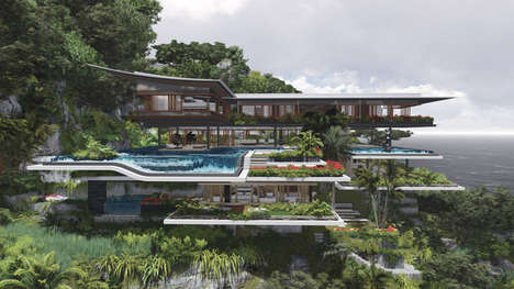 Otherworldly Island Cliff Homes - The Xalima Island House Concept Shows Real Luxury Living