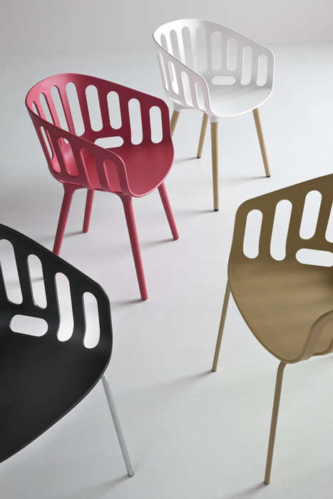 Bicycle Basket-Inspired Chairs - This New Collection of Chairs by Gaber is Eccentric and Minimal