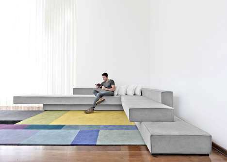 Comfortable Concrete Furniture - This Sofa by Paulo Kobylka Resembles Stack Slabs of Concrete