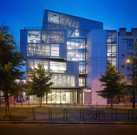 Stacked Translucent Buildings - This Urban Block Structure Mixes the Past with the Present