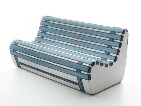 Park Bench-Inspired Couches - The Summertime Sofa by Valerio Berruti Emits a Pleasant Scent