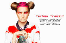 Psychedelically Sporty Fashion - Techno Transit by Andrew Fearman is Youthful and Vibrant