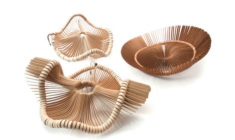 Hat-Shaped Decorative Baskets - The 'Tete de Bois' Baskets are Both Decorative and Functional