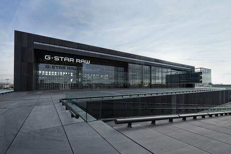 Hangar-Inspired Buildings - The New G-Star RAW Headquarters Looks Like a Giant Airport Hangar