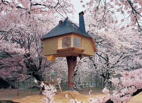 Fairy Tale Tree Houses - Enter a Realm of Fantasy with the Cherry Blossom Tea House