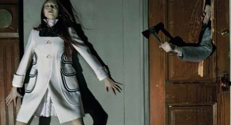 Gruesome Slasher Editorials - The Horror Movie Editorial for Vogue Italia was Shot by Steven Meisel