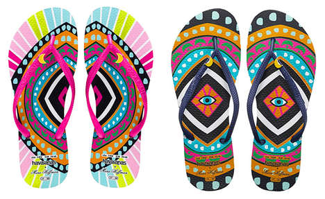 Cosmically Exotic Sandals - The Havaianas Mara Hoffman 2014 Collection is Full of Vibrant Colors