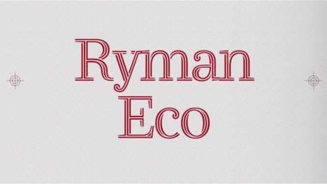 Resourceful Money-Saving Fonts - Ryman Eco is the New Sustainable Font That Could Help the Planet