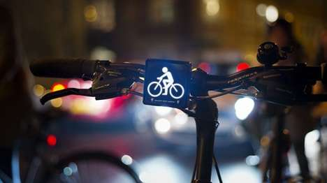 Bicycle-Shaped Bike Lights - The