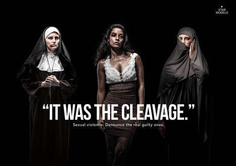 Cleavage-Blaming Abuse Ads - The Star Models Sexual Violence Campaign Promotes a Powerful Message